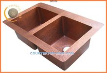 Double Bowl Kitchen Sink Copper Made in China