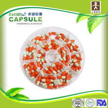red white capsule 0 medical grade for packing