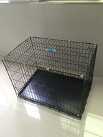 general cage slant-front collapsible dog crate