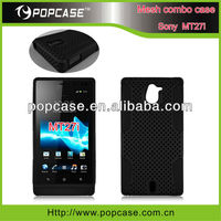 2in1 hybrid case for sony mt27i mobile phone