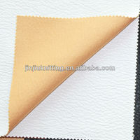 White Soft PU Leather Embossed For Diary Cover, Artifical Leather Embossed With Twill Fabric Base