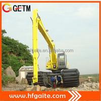 Efficient amphibious excavator with 0.7 cubic meter bucket Doosan TM70VC motor