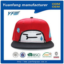 High Quality Manufacturer Design Your Own 5 Panel 3D Embroidery Snapback Hat
