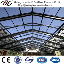 Tempered Laminated Glass Roof Steel Structure Glass Roof Sliding