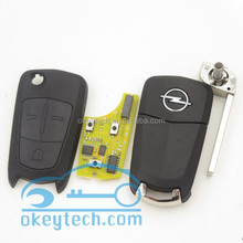 Original opel car key for opel 3 buttons remote key with HU100 for opel vectra remote key with 433mhz