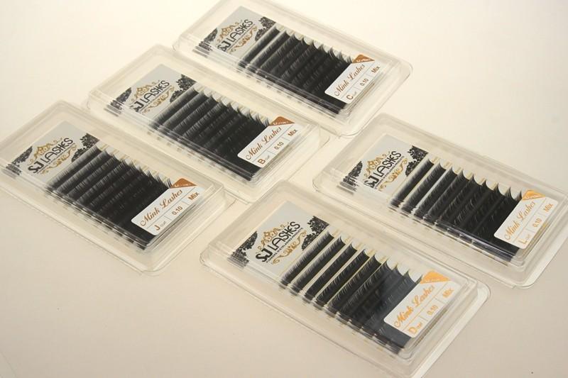 Sj Lashes Eyelash Extensions Microfiber Brushes Disposable Glue