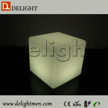 Promotion light up outdoor 16 color led cube table and seat for event
