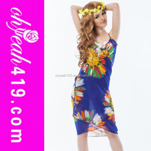New fashion hot sale wrap dress beautiful beach cover up