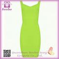 Venta caliente de la manera de vestir F66626-6 Verde Backless sin mangas del vestido del vendaje