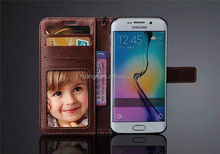 For Samsung Galaxy S6 Edge Fashion Luxury Magnetic Wallet PU Leather Flip Case Cover With Stand Card Slots & Photo Frame