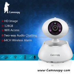 Camnoopy Pan/Tilt smart home P2P wifi 720P digital zoom support 128GB TF card baby IP camera
