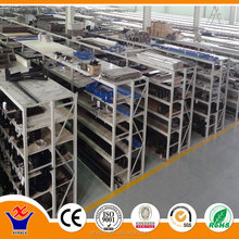 high quality of folding metal shelf of 4 layers for warehouse