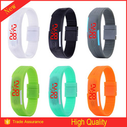 2015 new products motion activated led flashing bracelet watch for gift