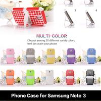 Multi Color 2 in 1 Phone Cases Soft TPU Kickstand Shell Housing For Samsung Note