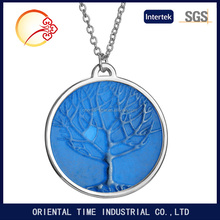 Silver plated Glowing in Dark Tree Shape Pendant Necklace