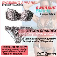 with bra padded brazilian beachwear printing customized ladies swimwear triangle Bikini