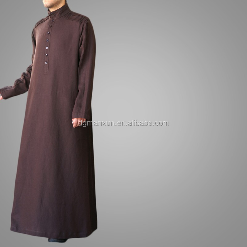 New Arrival Men Robe Muslim Long Thobe Islamic Jubbah3.jpg