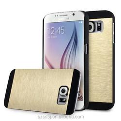 Luxury Brushed Aluminum Steel Metal Plastic Hard Case for Samsung Galaxy S6
