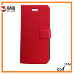 hot popular rose red pu leather stand mobile accessories cover for iphone 6 6 plus