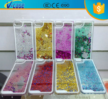 Mobile phone moving glitter flash light case for iphone 5
