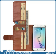 Mobile Phone Accessories Genuine Flip Leather Case for S6 with Stand,Super Wallet for Galaxy S6 Case Luxury