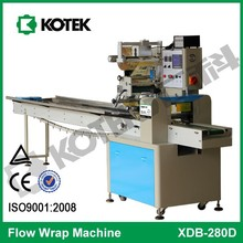 Horizontal Flow Collectible Ticket Packaging Wrapper Automatic Pillow Bag Paper Playing Game Card Packing Machine