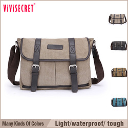 2015 New arrival waterproof canvas mens messenger bag tote bag