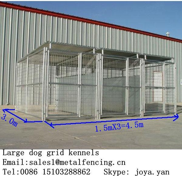 1.5x3.0x1.8mx3 corre cane di casa struttura in acciaio cane corre 4.5x3.0x1.8m canili grande