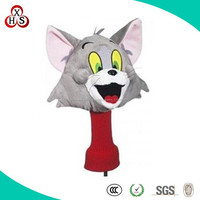 Soft Wholesale Stuffed Animal and cartoon shape golf club cover for sale