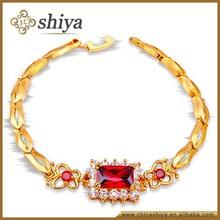 oro rojo noble de cristal pulsera de moda de 2015