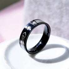 lettera di moda anello in acciaio inossidabile al titanio uomo motociclista punk biker gioielli vendita calda di cavalieri templari anelli