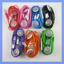 Colorful Earphone for Apple iPhone 5 5S 5C 4G 4S with Mic Remote