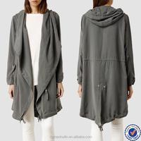 custom clothing manufacturers fashion clothing parka coat latex trench coat