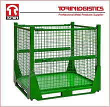 Wire Mesh Pallet Cage Steel Mesh Crates(L1214*W1013 mm/OEM)