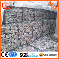 Anping factory supply Wire cages rock retaining wall