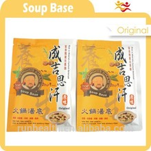 olla caliente base de sopa de congelación con el ajo pelado congelado pliego de condiciones