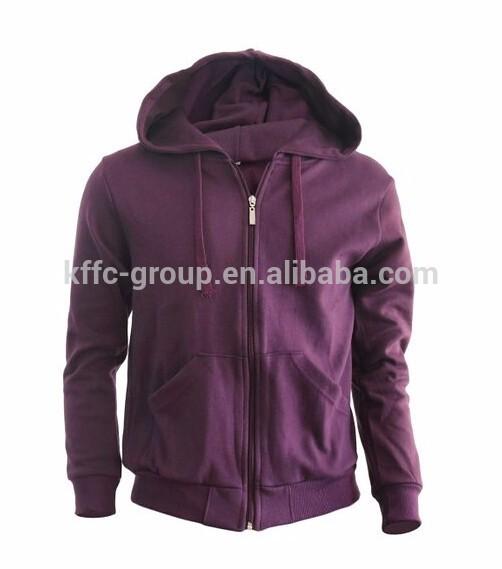Cremallera con capucha jumper Zip hoodie, sólido de algodón con cremallera hasta la chaqueta con capucha
