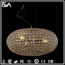 Gold shade ceiling lamp led crystal ceiling light for home/hotel/hall