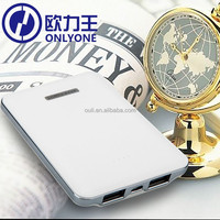 5V 2A Polymber Battery Pack 5000mah Leather USB Power Bank for Mobile Phone