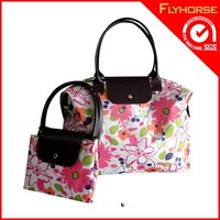 Recycle Promotion Weekend Foldable Non Woven Nylon Shopping Bag