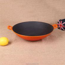 cast iron enamel cookware CHINESE WOK