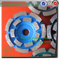 """6"""" diamond cup wheel on bench grinder for stone grinding,good quality diamond cup wheel manufacturer"""