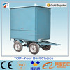 Mobile type vacuum Transformer oil recycling machine mounted on trailer remove the water, gas and impurities in insulating oil