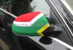 high quality polyester+spandex Car Mirror Flag nylon+ spandex