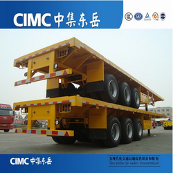 Semi Trailer Flat Bed Made In China Famous CIMC