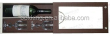 leather wine bottle box, wine case with two glasses