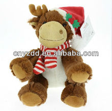 christmas deer toy/christmas toy deer/plush christmas deer toy