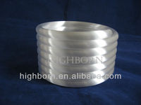 milk white helical quartz tube