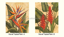Gris New Design Beautiful Natural Texture Yetz Collection Pastoral Art Theme Hawaii Tropical Plant Non-woven Paper Wallpaper