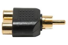 Audio video adaptor - RCA male to dual RCA female adaptor